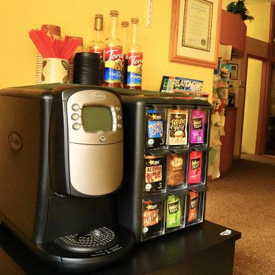 Beverage Machine | Dr. Michael Kim's Silverton Dental Office